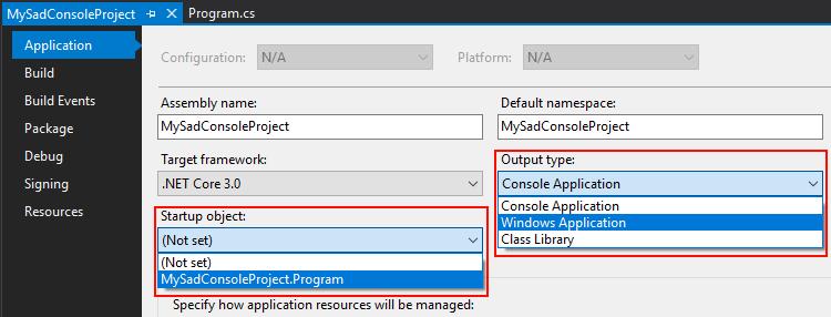 Create a new  NET Framework project